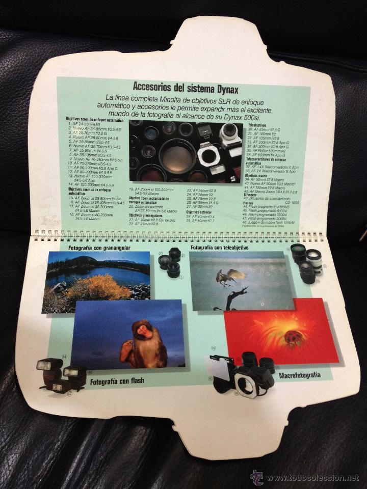 Cámara de fotos: Original y espectacular catalogo/display troquelado de MINOLTA . Mide 31 cm alto x 25,5 cm ancho. - Foto 2 - 45113964