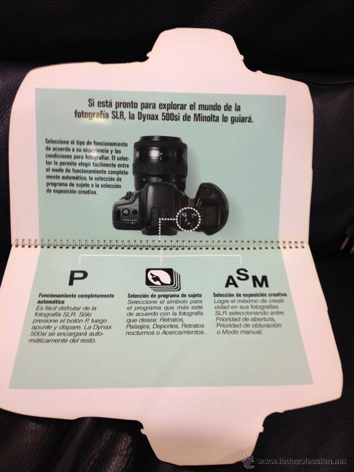 Cámara de fotos: Original y espectacular catalogo/display troquelado de MINOLTA . Mide 31 cm alto x 25,5 cm ancho. - Foto 6 - 45113964