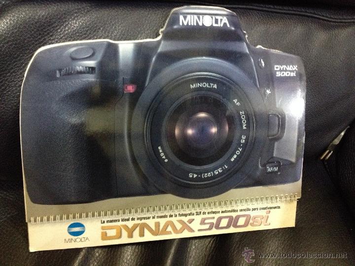 Cámara de fotos: Original y espectacular catalogo/display troquelado de MINOLTA . Mide 31 cm alto x 25,5 cm ancho. - Foto 8 - 45113964