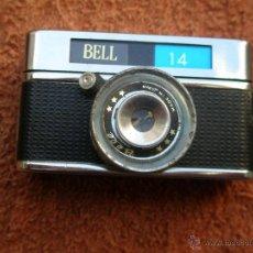 Cámara de fotos: MICRO CÁMARA FOTOGRÁFICA BELL 14, JAPONESA - CON FUNDA ORIGINAL . . Lote 45243797
