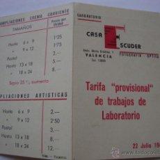 Cámara de fotos: ANTIGUA PUBLICIDAD ORIGINAL FOTOGRAFIA TARIFAS LABORATORIO. Lote 45553155