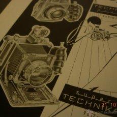 Cámara de fotos: CARTEL PUBLICITARIO ORIGINAL 1963 20X24 CM. PAPEL SATINADO CAMARA LINHOF TECHNIKA PRESS SUPERTECNIKA. Lote 45815094