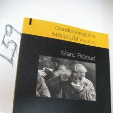Cámara de fotos: LIBRO - GRANDES FOTOGRAFOS - MARC ROBOUD. Lote 46054097