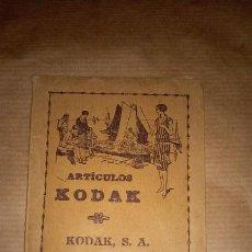 Cámara de fotos: PRECIOSA Y MUY ANTIGUA CARTERA PARA NEGATIVOS O FOTOGRAFÍAS DE KODAK, DE 1910 APROXIMADAMENTE.. Lote 46157047