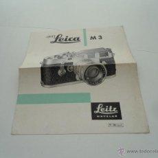 Cámara de fotos: CATALOGO LEICA M3 LEITZ LEICA FOLLETO DE 4 PAGINAS. Lote 46355329