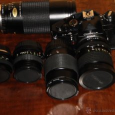 Cámara de fotos - LOTE Camara COSINA CT 4-REFLEX - Mas cinco objetivos – Con bolsa acolchada - Made in Japan - 46433203