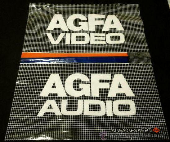 Cámara de fotos: ANTIGUA BOLSA Plástico AGFA - AUDIO / VIDEO - Barcelona - Publicidad Agfa-Gevaert - Años 80 - Foto 2 - 46500508