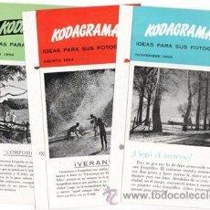 Cámara de fotos: TRES KODAGRAMAS, IDEAS PARA SUS FOTOGRAFÍAS, 1954. Lote 46519979
