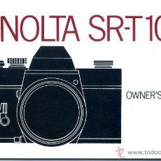 Cámara de fotos: MANUAL DE USUARIO DE LA MINOLTA SR-T 101 DEL AÑO 1973. 41 PÁGINAS, EN PERFECTO ESTADO.. Lote 46604544