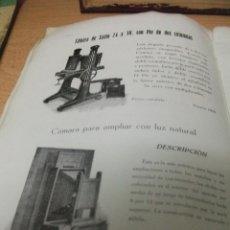Cámara de fotos: + CATALOGO DE MAQUINAS FOTOGRAFICAS Y APARATOS DE FOTOGRAFIA. EL VIAJANTE MUDO 1919 BARCELONA 50 PAG. Lote 47036048