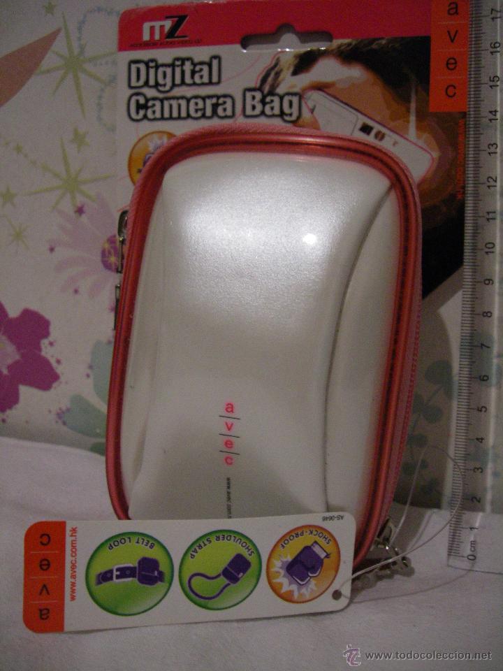 Cámara de fotos: FUNDA PROTECTORA naranja/ plata CAMARA FOTO - Marca AVEC - Protectora golpes, con cinta - A estrenar - Foto 2 - 47632265