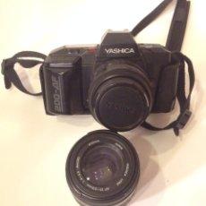 Cámara de fotos: CAMARA YASHICA 200 AF OBJETIVO AF 35-70 MM + MACRO AF 70-120. Lote 48517794