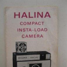 Cámara de fotos: INSTRUCCIONES PARA LA CÁMARA HALINA COMPACT INSTA-LOAD - EN INGLÉS.. Lote 49305853
