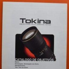 Appareil photos: TOKINA - CATALOGO DE OBJETIVOS PARA CÁMARAS REFLEX - FOLLETO DESPLEGABLE AÑOS 80. Lote 49433709