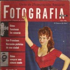 Cámara de fotos: REVISTA-FOTOGRAFIA POPULAR BRIGITTE BARDOT COVER ABRIL 1956-USA-EN ESPAÑOL. Lote 49436040