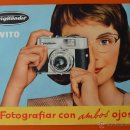Cámara de fotos: VOIGTLÄNDER - VITO - FOLLETO TRÍPTICO PUBLICITARIO DE LOS 50 - 60 - IMPRESO EN ALEMANIA - ESPAÑOL. Lote 49462957