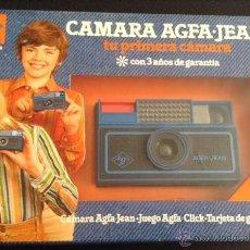 Fotocamere: CAMARA DE FOTOS AÑOS 70-80 NUEVA A ESTRENAR AGFA-JEAN. Lote 58425899