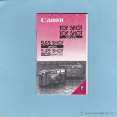 Cámara de fotos: CANON SURE SHOT SUPREME. MANUAL INSTRUCCIONES EN INGLES. 1986. Lote 49606147