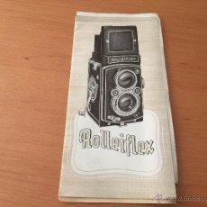 Cámara de fotos: ROLLEIFLEX CATALOGO ORIGINAL 1950. Lote 49666324