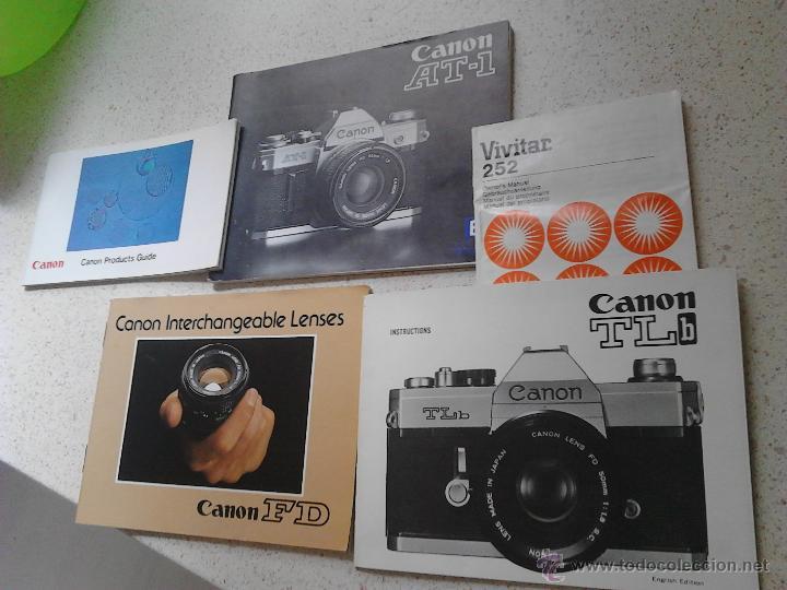 MANUALES CANON AT-1 CANON TLB CANON INTERCHANGEABLE LENSES CANON FD (Cámaras Fotográficas - Catálogos, Manuales y Publicidad)