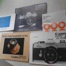 Cámara de fotos: MANUALES CANON AT-1 CANON TLB CANON INTERCHANGEABLE LENSES CANON FD. Lote 49854218