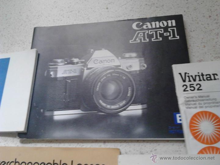 Cámara de fotos: MANUALES CANON AT-1 CANON TLb CANON INTERCHANGEABLE LENSES CANON FD - Foto 2 - 49854218