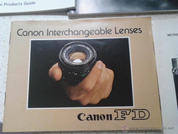 Cámara de fotos: MANUALES CANON AT-1 CANON TLb CANON INTERCHANGEABLE LENSES CANON FD - Foto 3 - 49854218