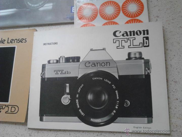 Cámara de fotos: MANUALES CANON AT-1 CANON TLb CANON INTERCHANGEABLE LENSES CANON FD - Foto 4 - 49854218