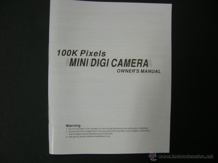Cámara de fotos: 100K PIXELS MINI DIGI CAMERA CON MANUAL EN ESPAÑOL - NUEVA A ESTRENAR - Foto 8 - 50238781
