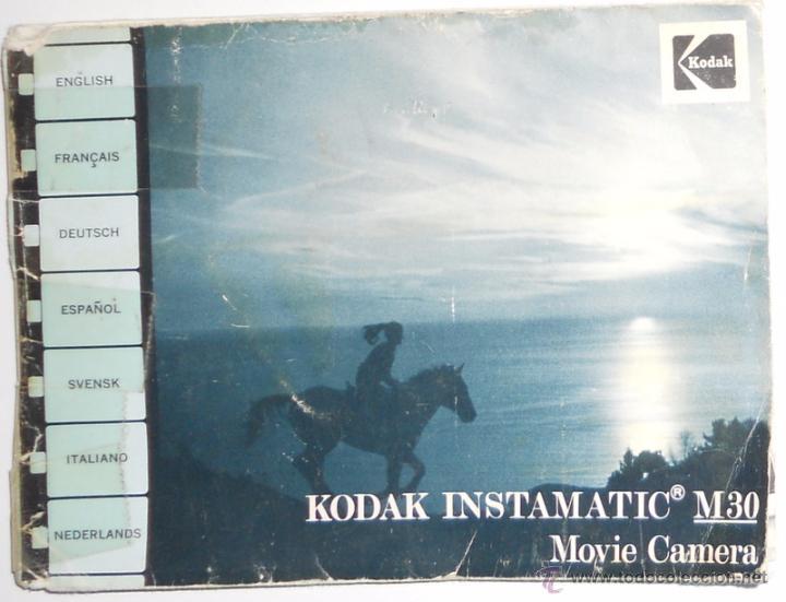 manual instrucciones camara camera kodak m30 in comprar manuales rh todocoleccion net kodak m30 instamatic movie camera manual Antique Kodak Cameras