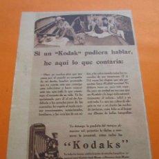 Cámara de fotos: PUBLICIDAD 1930 - COLECCION CAMARAS - KODAK KODAKS. Lote 51128725