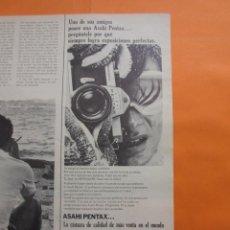 Cámara de fotos: PUBLICIDAD 1969 - COLECCION CAMARAS - ASAHI PENTAX. Lote 51136396