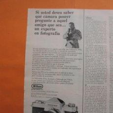 Cámara de fotos: PUBLICIDAD 1969 - COLECCION CAMARAS - NIKKON NIKKORMAT. Lote 51136415