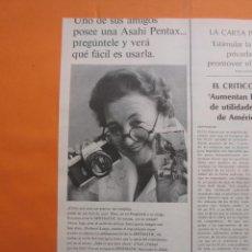 Cámara de fotos: PUBLICIDAD 1969 - COLECCION CAMARAS - ASAHI PENTAX. Lote 51136511