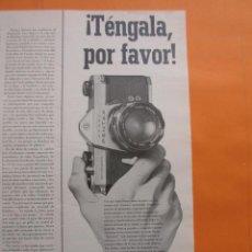 Cámara de fotos: PUBLICIDAD 1969 - COLECCION CAMARAS - ASAHI PENTAX. Lote 51136526