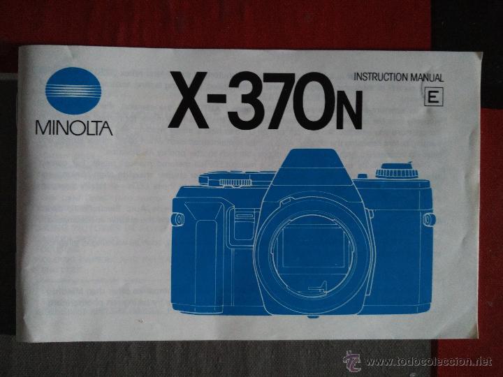 MINOLTA - MANUAL DE INSTRUCCIONES CÁMARA X-370N (Cámaras Fotográficas - Catálogos, Manuales y Publicidad)