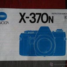 Cámara de fotos: MINOLTA - MANUAL DE INSTRUCCIONES CÁMARA X-370N. Lote 51653582