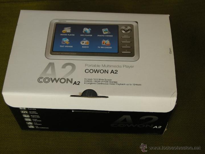 REPRODUCTOR MULTIMEDIA DE DISCO DURO COWON A2 DE 20 GB,PANTALLA 4 PULGADAS, PANTALLA LCD 16:9 (Cámaras Fotográficas - Otras)