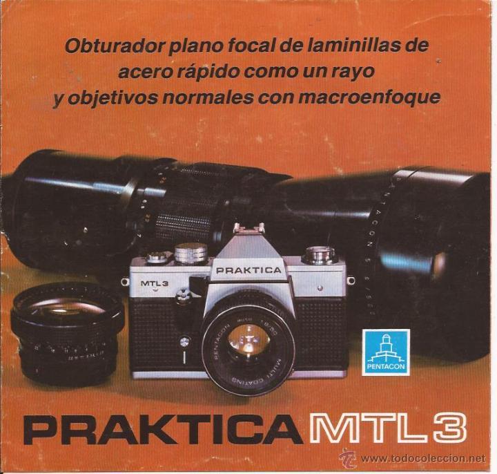 CATÁLOGO PRAKTICA MTL 3 / TRÍPTICO (Cámaras Fotográficas - Catálogos, Manuales y Publicidad)