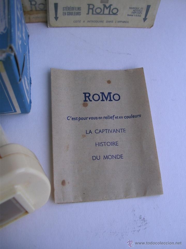 Cámara de fotos: visor estereoscopico romo con manual y caja y 11 cuadros de fotos - souvenir de lourdes - Foto 2 - 52459075