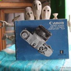 Cámara de fotos: FOLLETO INSTRUCCIONES CANON AV-1. Lote 53337497