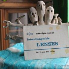 Cámara de fotos: FOLLETO DESPLEGABLE DE LOS OBJETIVOS PARA MAMIYA TL Y DTL. Lote 53337994
