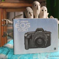 Cámara de fotos: GUÍA CANON EOS 650. Lote 53338322