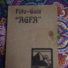 Cámara de fotos: FOTO-GUÍA AGFA. Lote 53522145