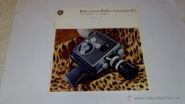 CATALOGO PUBLICIDAD CAMARA BOLEX ZOOM REFLEX AUTOMATIC K1 (Cámaras Fotográficas - Catálogos, Manuales y Publicidad)