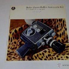 Cámara de fotos: CATALOGO PUBLICIDAD CAMARA BOLEX ZOOM REFLEX AUTOMATIC K1. Lote 53964947