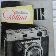 Cámara de fotos: MANUAL DE INSTRUCCIONES DE CÁMARAS DE FOTOS ANTIGUAS ,RETINA YASHICA.IDEAL COLECCIONISTAS. Lote 54011968