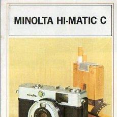 Cámara de fotos: PUBLICIDAD CATALOGO CAMARA FOTOGRAFICA MINOLTA HI-MATIC C. Lote 54215004