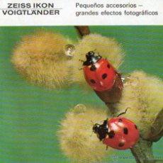 Cámara de fotos: PUBLICIDAD CATALOGO CAMARA FOTOGRAFICA ACCESORIOS ZEISS IKON. Lote 54215018