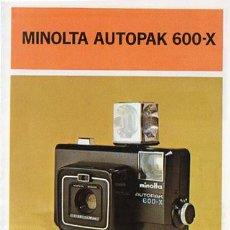Cámara de fotos - PUBLICIDAD CATALOGO CAMARA FOTOGRAFICA MINOLTA AUTOPAK 600-X - 54215232